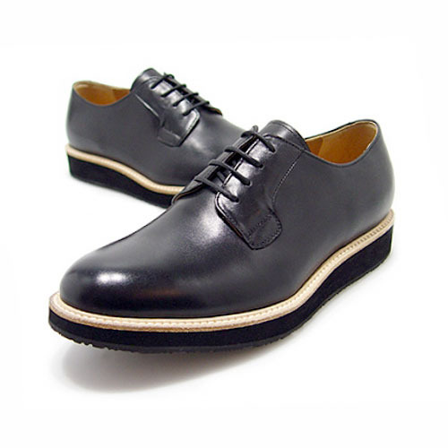 VIBRAM SOLE BLACK DERBY SHOES(6RX 5502 VBD)