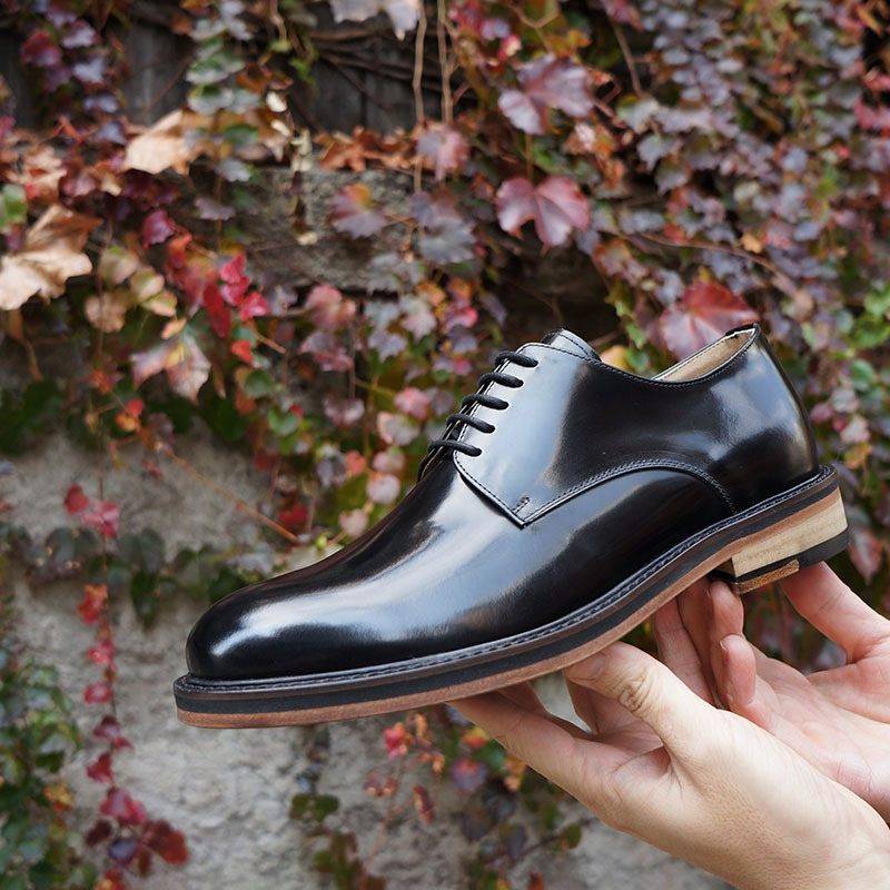 Dwayne [드웨인] Plain Derby Shoes (8MM 5629 LBK)
