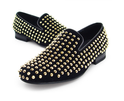 URBAN TREKKER Black Gold Stud Slip-On (4RX 5340 RGS)
